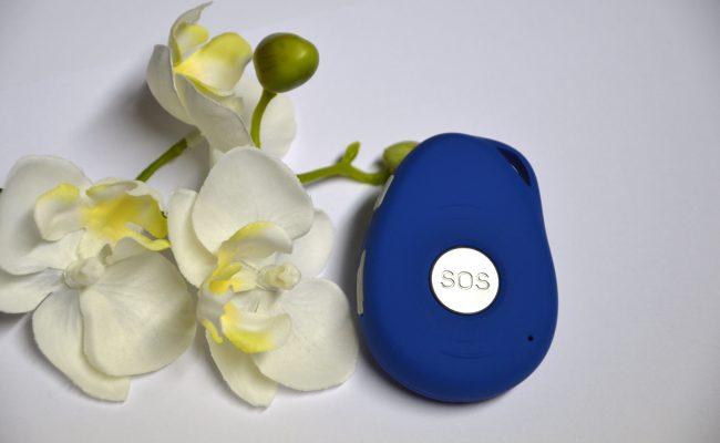 PADRINO - das mobile Hausnotrufgerät neben Orchideenblüte.